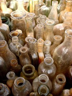 bottles---great image for all the bottles my mother owns...
