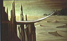 Kay Sage - Danger, Construction Ahead, 1940