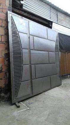 Front Gate Design, Steel Gate Design, House Gate Design, Main Gate Design, Door Gate Design, Metal Driveway Gates, Metal Gates, Wrought Iron Gates, Patio Design