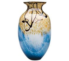 "Oceana 16"" High Mouth-Blown Glass Vase 