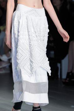 134 details photos of Bora Aksu at London Fashion Week Spring 2015.