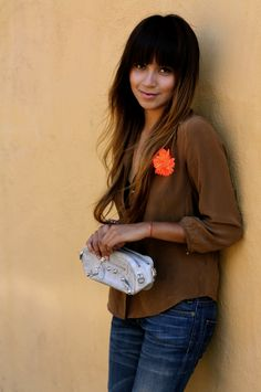 169ad1f6de Hair is awesome and shirt is cute! Straight Bangs, Balayage Hair, Ombre Hair