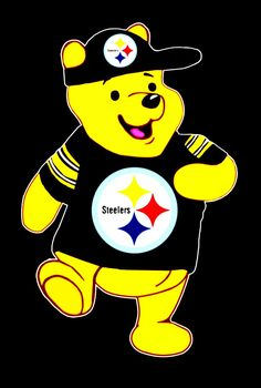 Pooh Bear Loves the Steelers Pittsburgh Steelers Wallpaper, Pittsburgh Steelers Jerseys, Steelers Gear, Here We Go Steelers, Pittsburgh Sports, Steelers Apparel, Steeler Football, Steelers Stuff, Steeler Nation