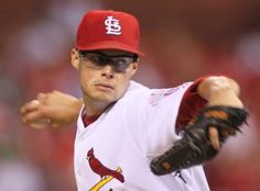 Cardinals starting pitcher Joe Kelly pitches during a game between the St. Louis Cardinals and the Arizona Diamondbacks on Tuesday, August 14, 2012, at Busch Stadium in St. Louis. Photo by Chris Lee, clee@post-dispatch.com