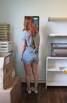 Lauren's Knot-Maste Top is just fantastic for showing off her (also me-made! Maid Of Honor, Overall Shorts, Got Married, Dress Making, Bff, Knots, Overalls, How To Make, How To Wear