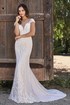 Jasmine Bridal is a premier wedding dresses designer of wedding dress and gowns. Browse our romantic, glamorous, boho-inspired, rustic, and simple wedding dress collections today! Classic Wedding Gowns, Best Wedding Dresses, Lace Wedding, Trendy Wedding, Perfect Wedding, Dream Wedding, Illusion Dress, Illusion Neckline, Jasmine Bridal