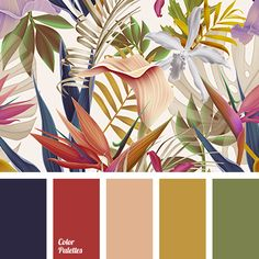 Color Palette Blue and orange, browns with a touch of lavender Colour Pallette, Colour Schemes, Color Combos, Palettes Color, Coastal Color Palettes, Vintage Color Schemes, Living Room Ideas Red And Brown, Decoration Palette, Tropical Colors
