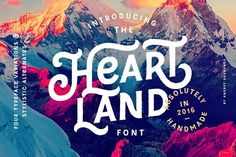 Heartland Font by Andrey Sharonov on @creativemarket
