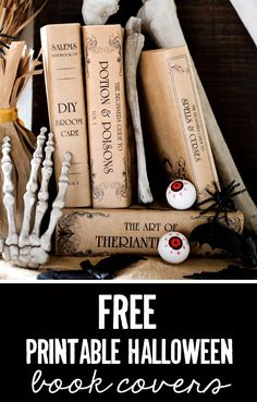 FREE Halloween Book Covers - Gorgeous, Budget-Friendly Halloween Decor