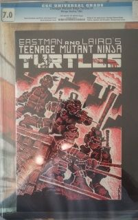 Here is the Teenage mutant ninja turtles #1 cgc graded. 1st. appearance of the  turtles.  and Archie comics teenagemutant ninja turtles adventure #1 cgc graded.  1ST PRINT. VERY RARE AND LOW PRINT RUN...THIS SALE IS FOR TWO BOOKS.   Sold!!