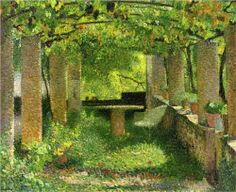 HENRI MARTIN (1860-1943) - The Arbour...Although Martin's work as a neo-impressionist is not considered groundbreaking, his work was rather well-received, and has been associated with world-class symbolist painter, Puvis de Chavannes.