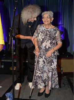 Brian May and Freddie's mum