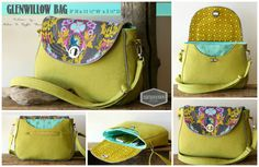 PDF SEWING PATTERN  Glenwillow Saddle Bag  by HolditRightThereBags