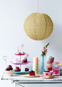 Colorful Melamine Cups and Plates, Cake stand and Thermo - HS16