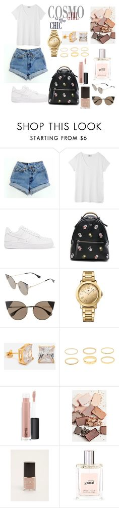 """Untitled #128"" by prettyyyy ❤ liked on Polyvore featuring Levi's, Hush, NIKE, Fendi, Tommy Hilfiger, King Ice, MAC Cosmetics, Stila, Torrid and philosophy"