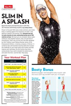 Printable Cardio Workout: A Swim Workout for the Pool - Shape Magazine