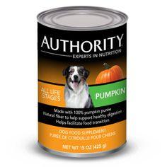 Authority® Dog Food Supplement - Pumpkin   Canned Food   PetSmart