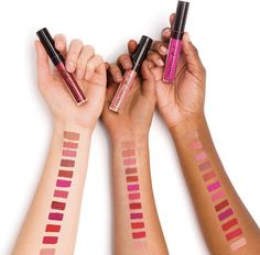 Lasts for up to eight hours of rich color. Infused with Vitamin E, kaolin and silicones for beautifully plush lips. Lipstick Shades, Lipstick Colors, Lip Colors, Lip Gloss Set, Pink Lip Gloss, Nu Skin, Long Lasting Lipstick, Lip Plumper, Liquid Lipstick