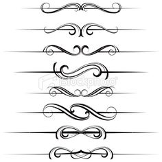 Dividers | Motif dividers Royalty Free Stock Vector Art Illustration
