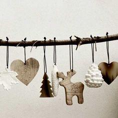 Julepynt - hjerte - horn