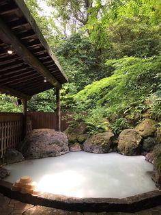 hot spring in oita, japan