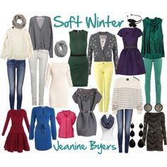 Soft winters are probably usually told they are soft summers or cool summers (or even winters).You might be a winter who needs softer colors than a winter palette would normally provide, but more colo (Cool Summer Analysis) Deep Winter Palette, Deep Winter Colors, Dark Winter, Soft Colors, Seasonal Color Analysis, Color Me Beautiful, Soft Summer, Fashion Colours, Season Colors