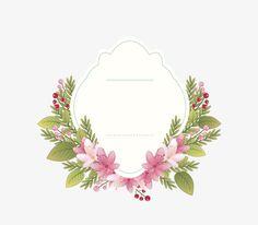 Vector wedding invitation flower border