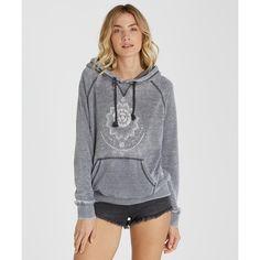 Billabong Women's Take Away Pullover Hoodie (76 AUD) ❤ liked on Polyvore featuring tops, hoodies, fleece tops, off black, billabong hoodies, tribal print pullover hoodie, pullover hoodies, black hoodie и hoodies pullover