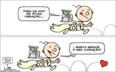 Charge do Lute sobre o ano novo (31/12/2016) #Charge #AnoNovo #2017 #HojeEmDia