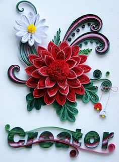 quilling spring flowers