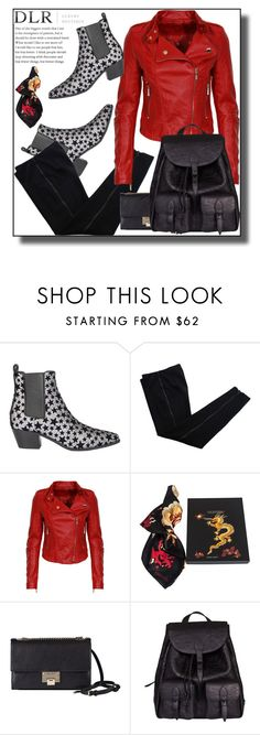 """DLRBOUTIQUE.COM"" by jelena-880 ❤ liked on Polyvore featuring Yves Saint Laurent, COSTUME NATIONAL, Valentino and Jimmy Choo"