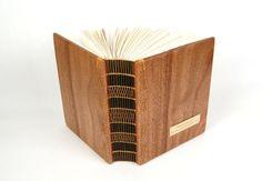 large mahogany photo album - scrapbook handmade wood book  heirloom memory book anniversary gift - made to order. $290.00, via Etsy.