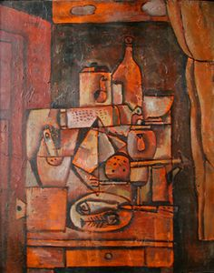 Cecilia De Torres Ltd - Still life in orange - José Gurvich - 1927- Uruguay