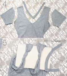 Creating Laura: No-Sew DIY Bow-Back Tank Top