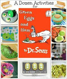 Reading Confetti: 3 Green Eggs and Ham Treats: Virtual Book Club for Kids