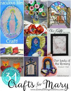 Catholic kids crafts - 31 Crafts for Mary – Catholic kids crafts Catholic Religious Education, Catholic Crafts, Catholic Religion, Catholic Kids, Church Crafts, Catholic Catechism, Catholic School, Catholic Saints, Religious Art