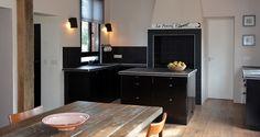 cuisine ouverte, cuisine noire