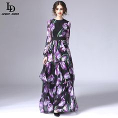 Autumn Winter Runway Women Elegant Embroidered Print Maxi Party Ball Gown Dress Like and share if you think it`s fantastic! http://www.storeglum.com/product/new-fashion-vintage-long-dress-autumn-winter-2016-designer-runway-women-elegant-embroidered-print-maxi-party-ball-gown-dress #shop #beauty #Woman's fashion #Products
