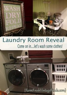 Stunning laundry room reveal!