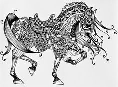 war-horse-zentangle-jani-freimann