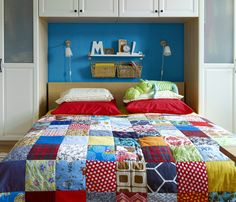 big patchwork - I can patchwork one side for my hubby and the other for me then he won't sleep under any pink
