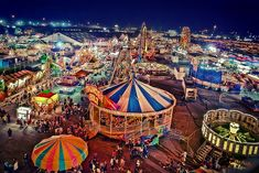 Fantastic carnivals and fairs.