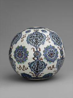 Hanging ornament | Kütahya, Turkey, 19th century | Stonepaste; polychrome painted under a transparent glaze | The Metropolitan Museum of Art, New York