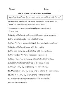 The verb to be most frequently works in conjunction with another verb. To be verbs include; These To Be Verbs worksheets are for students at the beginner, intermediate and advanced level. Is Am Are Worksheets, Spelling Worksheets, English Grammar Worksheets, Grammar Activities, Teaching Grammar, English Activities, Teaching Writing, Teaching Time, Esl Lessons
