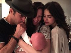 """The Leftovers actress Liv Tyler shared a sweet snapshot with her son Sailor, nearly 6 months, and costars Justin Theroux and Margaret Qualley. """"My family meeting my baby boy I feel so blessed in all parts of my life,"""" Tyler, captioned the precious Liv Tyler, Steven Tyler, Justin Theroux, Justin Bieber, Margaret Qualley, Ryan Gosling, Meghan Markle, David Et Victoria Beckham, First Baby Pictures"""