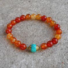 estabilidad++cornalina+y+con+piedras+preciosas+por+lovepray+en+Etsy