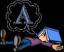 Alfabeto animado tomando un descanso.