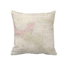 Central America Throw Pillows