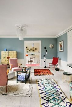Luxury Homes Interior, Home Interior, Interior Design, Estilo Color Block, Interior Inspiration, Room Inspiration, Couch Magazin, Boucherouite, Home Remodel Costs