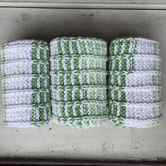 New England Knitting // Blog Post // Baby Genius Burp Cloths // Hand Knit //